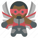 avangers, avatars, falcon, gartoon, hero, marvel icon