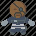 avangers, avatars, fury, gartoon, hero, marvel, nick icon