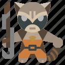 avangers, avatars, gartoon, hero, marvel, raccoon, rocket icon