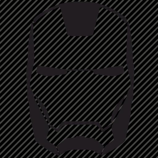 face, iron, man, mask, skin icon