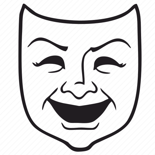 comedia, comedian, face, mask, theather, tragedy icon