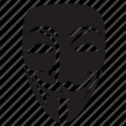 face, incognito, mask, robbery, terrorist, theft, vendetta icon