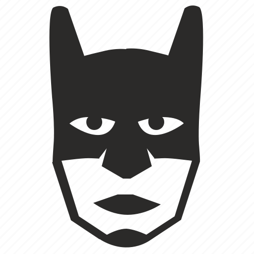 bat, batman, head, hero, mask icon