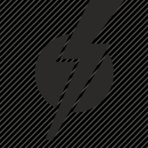 electric, hero, round, shock, sign icon