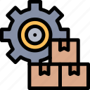 industry, management, mass, product, production icon