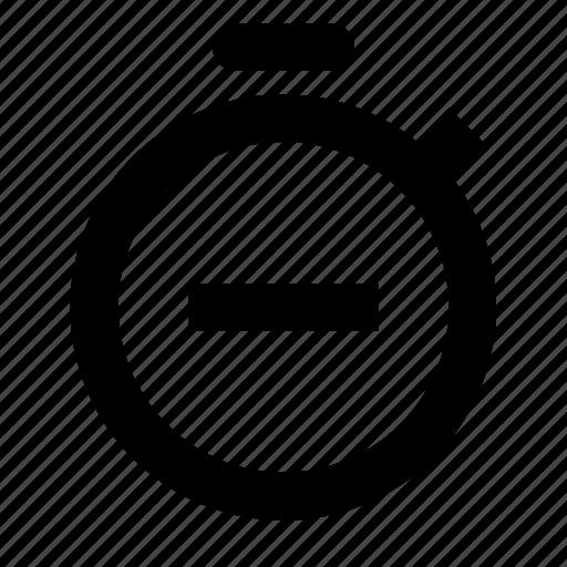 stop, stopwatch icon
