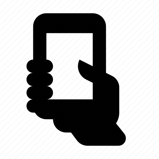 hand, smartphone icon