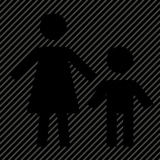 boy, family, parental control icon