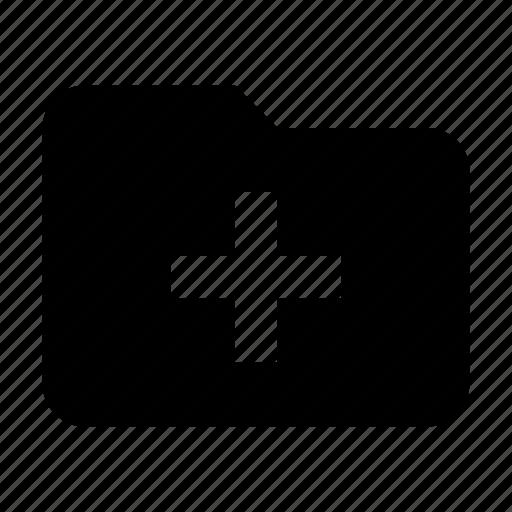 add, create, files, folder, new, storage icon