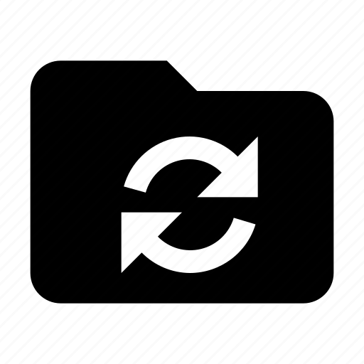 folder, syncronization icon