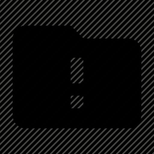 alert, folder, warning icon