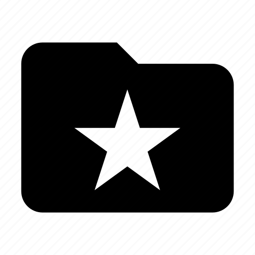 folder, star, storage icon