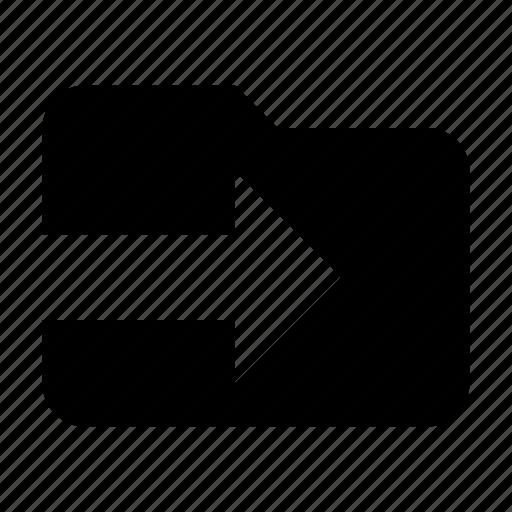 files, folder, import, storage icon