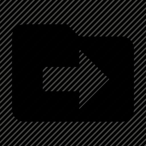 export, folder, storage icon
