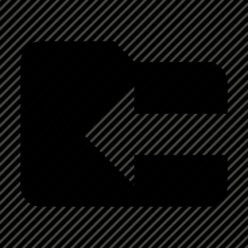 folder, import icon