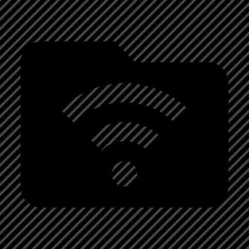 files, folder, storage, wifi icon