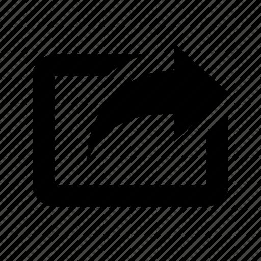 arrow, send, share, translation icon
