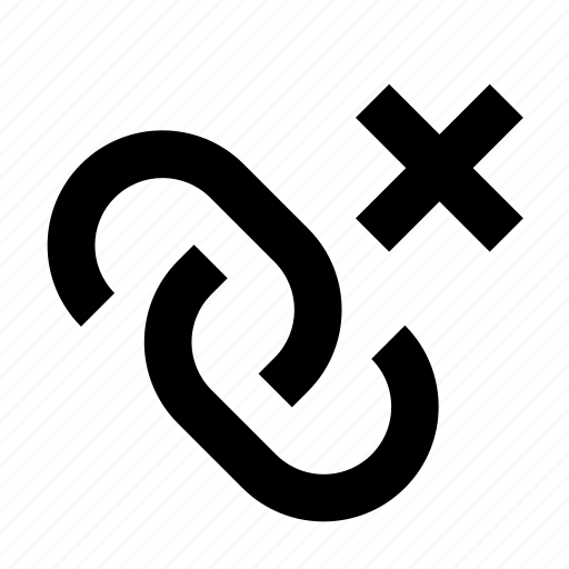 break, chain, connect, link icon