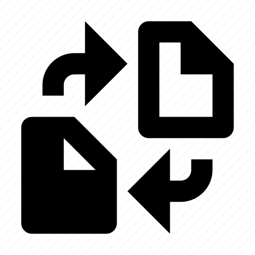 change, copy, document, swap, sync, syncronize icon