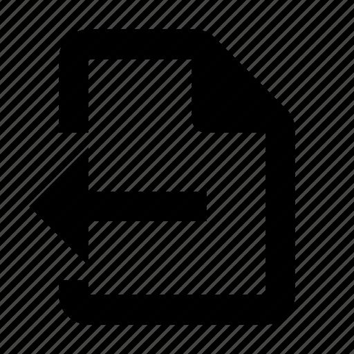 back, document, export icon