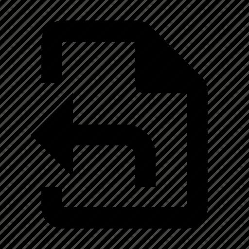 document, export, save icon