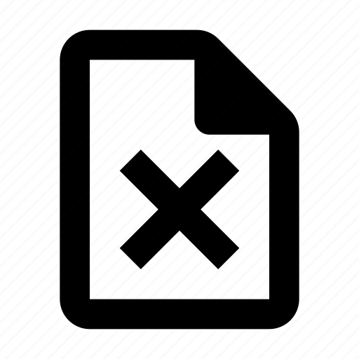Delete, document, rejected icon - Download on Iconfinder