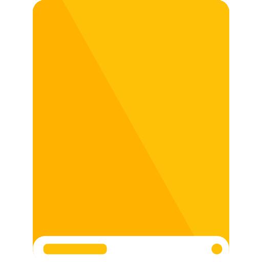 amber, drive, white icon