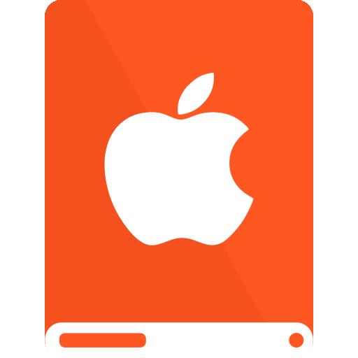 apple, do, drive, white icon