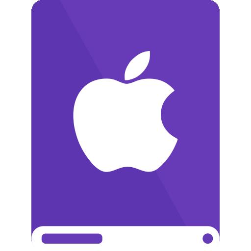 apple, dp, drive, white icon