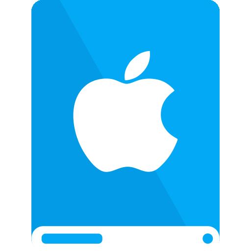 apple, drive, lb, white icon
