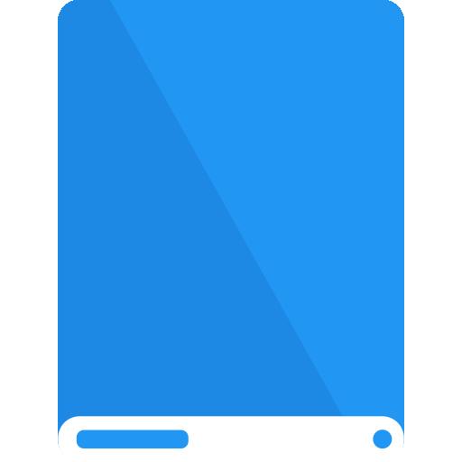 blue, drive, white icon