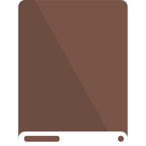 brown, drive, white icon