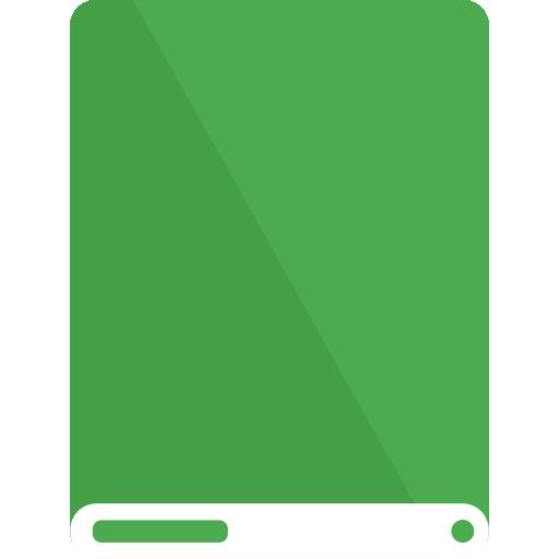 drive, green, white icon