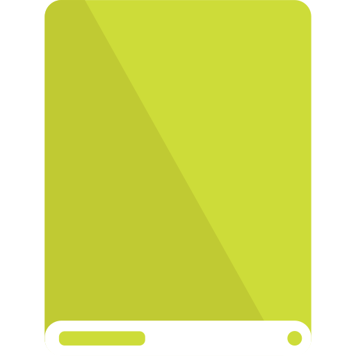 drive, lime, white icon