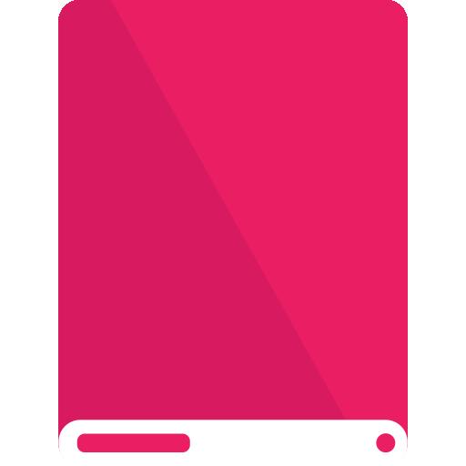 drive, pink, white icon