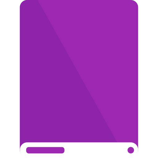 drive, purple, white icon
