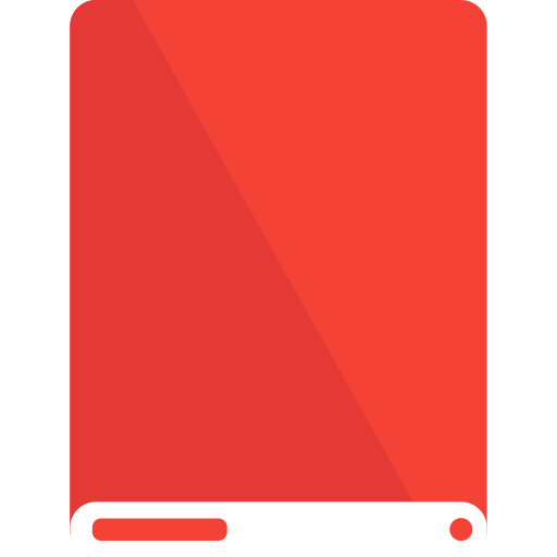 drive, red, white icon