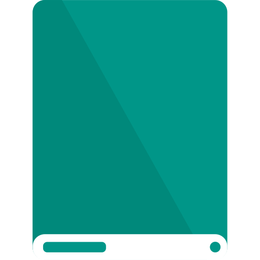 drive, teal, white icon