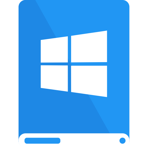 blue, drive, white, windows icon