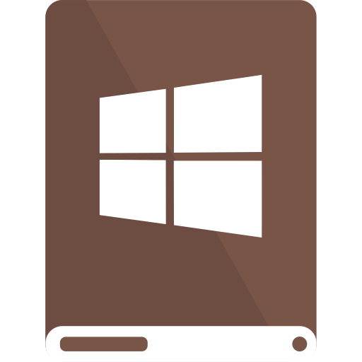 brown, drive, white, windows icon