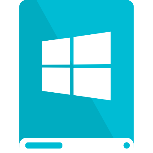 cyan, drive, white, windows icon