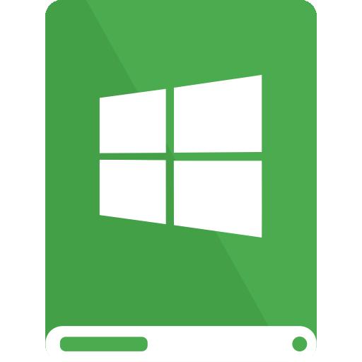 drive, green, white, windows icon