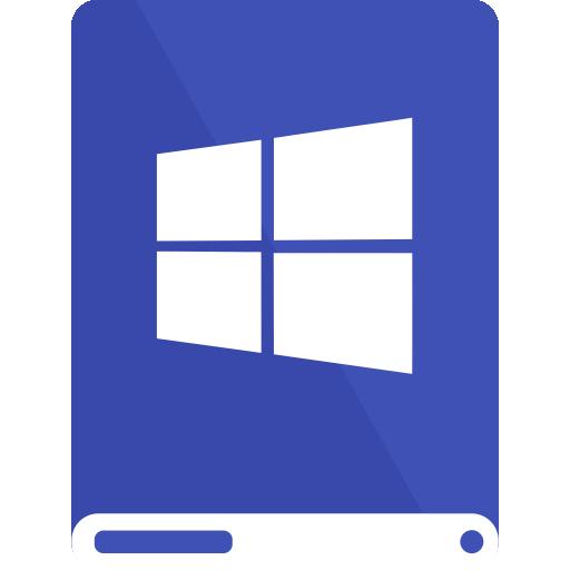 drive, indigo, white, windows icon