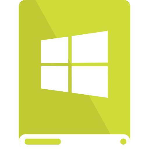 drive, lime, white, windows icon