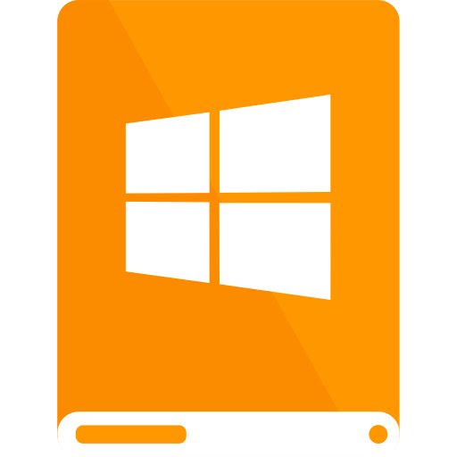 drive, orange, white, windows icon