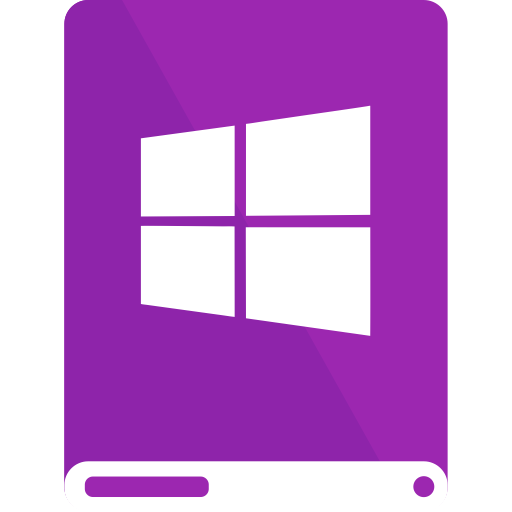 drive, purple, white, windows icon