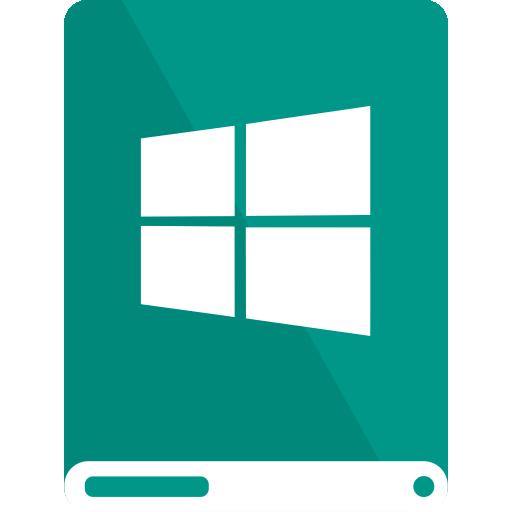 drive, teal, white, windows icon