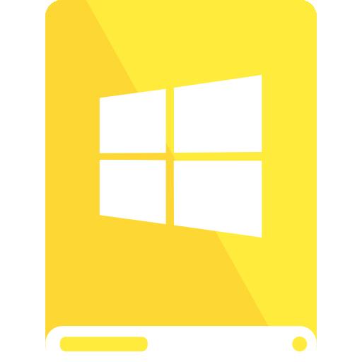 drive, white, windows, yellow icon
