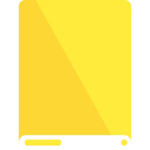 drive, white, yellow icon
