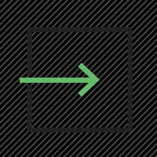 app, arrow, close, exit, internet, security, sign, to, web icon